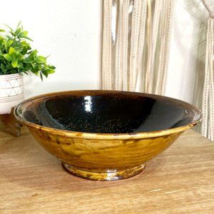 Large Pottery Hand Made Bowl Grace Signed